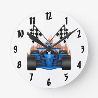 Race Car Decorative Wall Clock