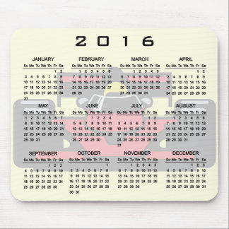 Race Car Design 2016 Calendar Mousepad