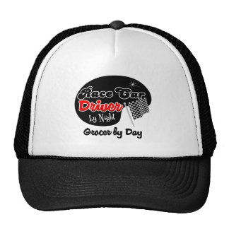 Race Car Driver by Night Grocer by Day Mesh Hat