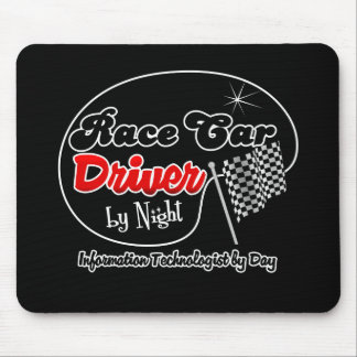 Race Car Driver by Night Information Technologist Mouse Pad