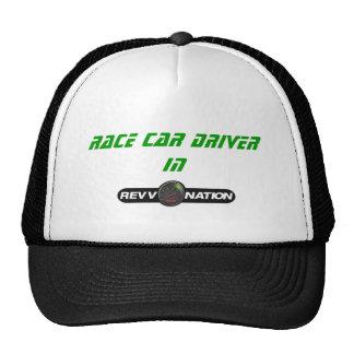 Race car driver in cap