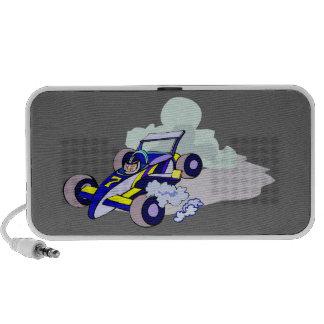 Race Car Driving Graphic Art Doodle PC Speakers