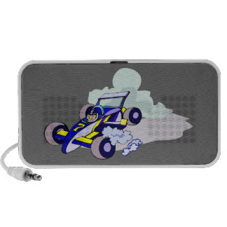 Race Car Driving Graphic Art Doodle PC Speakers