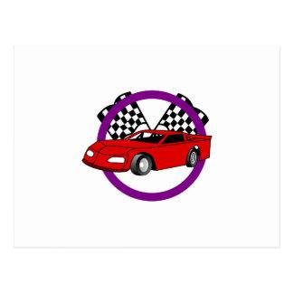 Race Car Logo Postcard