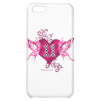 race car number 11 butterfly iPhone 5C cover