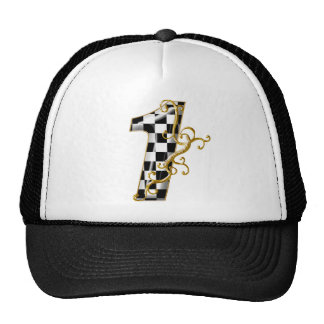 race car number 1 hats