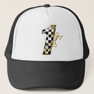 race car number 1 trucker hat