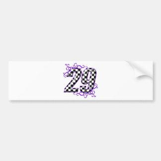 Race car number 29 bumper sticker