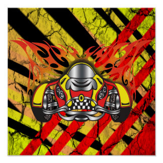 Race Car Print and Poster