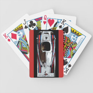 RACE CAR - red, white, blue Bicycle Playing Cards