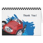 Race Car Thank You Card