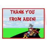 Race Car Thank You Note Card