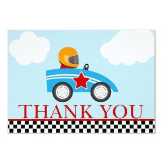 Race Car Thank you note cards 9 Cm X 13 Cm Invitation Card