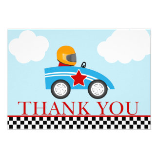Race Car Thank you note cards