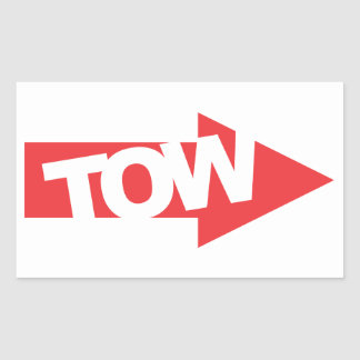 Race Car Tow Decal Rectangular Sticker