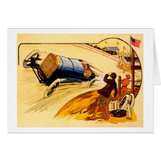 Race Car Vintage Motor Car Poster Greeting Card
