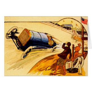 Race Car ~ Vintage Motor Car Poster Greeting Card
