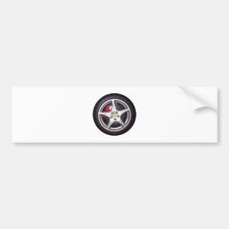 Race Car Wheel Bumper Sticker