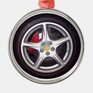 Race Car Wheel Christmas Ornament