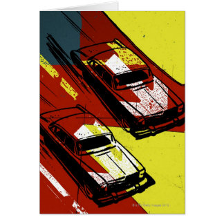 Race Cars Greeting Card