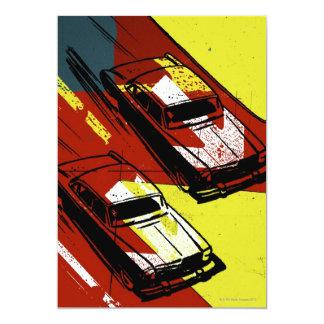 """Race Cars 5"""" X 7"""" Invitation Card"""