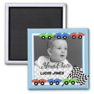Race Cars/ Photo Square Magnet