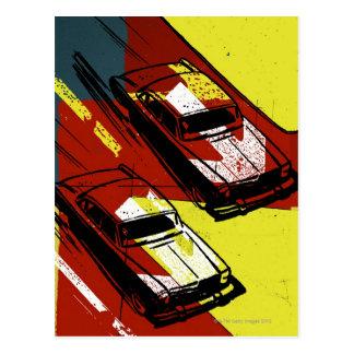 Race Cars Postcard