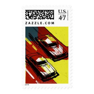 Race Cars Stamp