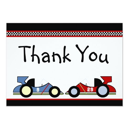 Race Cars Thank You Cards