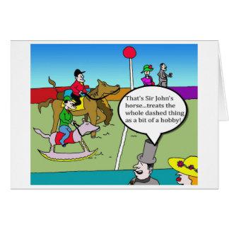 Race Cartoon greetings card. Card