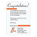 Race Director - Medal Winner Letter 13 Cm X 18 Cm Invitation Card