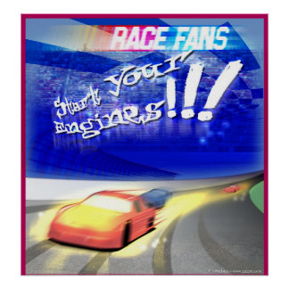 race fan poster