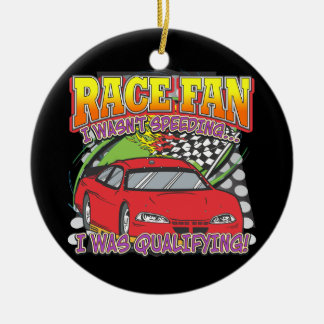 Race Fan Qualifying Christmas Ornament