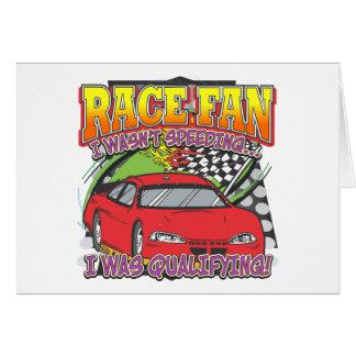 Race Fan Qualifying Greeting Card