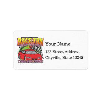 Race Fan Qualifying Address Label