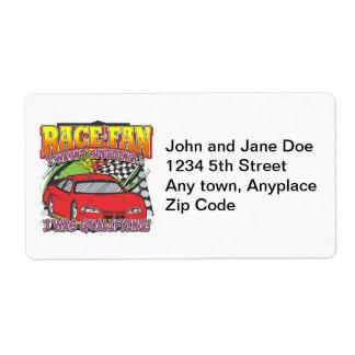 Race Fan Qualifying Shipping Label