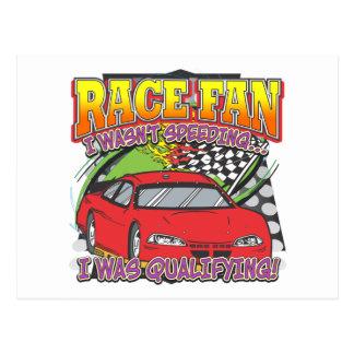 Race Fan Qualifying Postcard