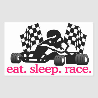 Race (Go Kart) Rectangular Sticker