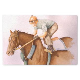 Race Horse and Jockey Tissue Paper