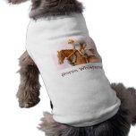 Race Horse and Jockey WaterColor Sleeveless Dog Shirt