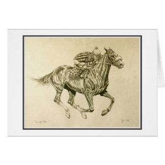 Race Horse Card