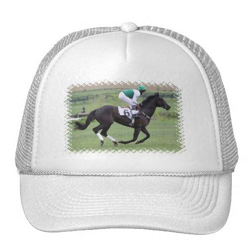 Race Horse Galloping Baseball Hat