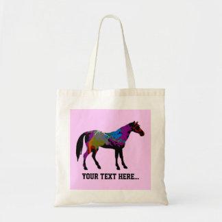 Race Horse Personalised Tote Bag