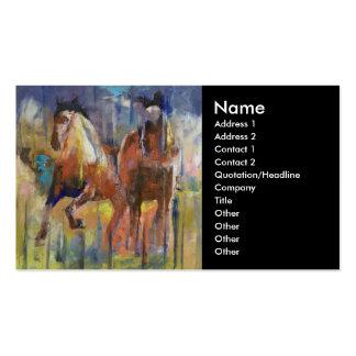 Race Horses Business Card