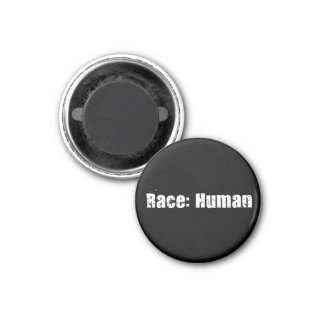 Race: Human 3 Cm Round Magnet