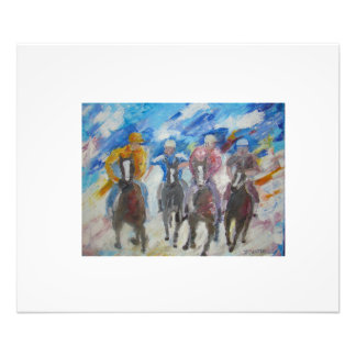 Race Of Horses And Men Photographic Print