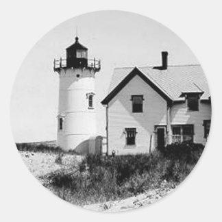 Race Point Lighthouse Round Sticker