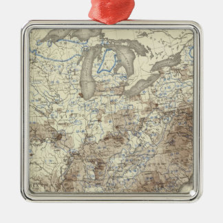 Race Population Density 1870 Silver-Colored Square Decoration