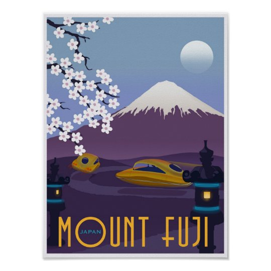 Race to Mount Fuji in your flying car! Poster
