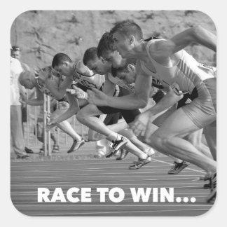 Race to win - running sticker motivation